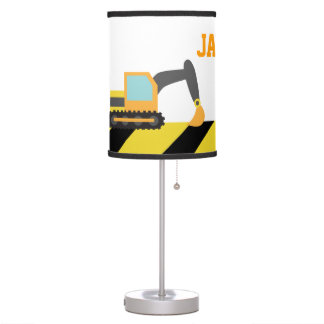 Colourful Construction Vehicles For Boys Room Desk Lamp