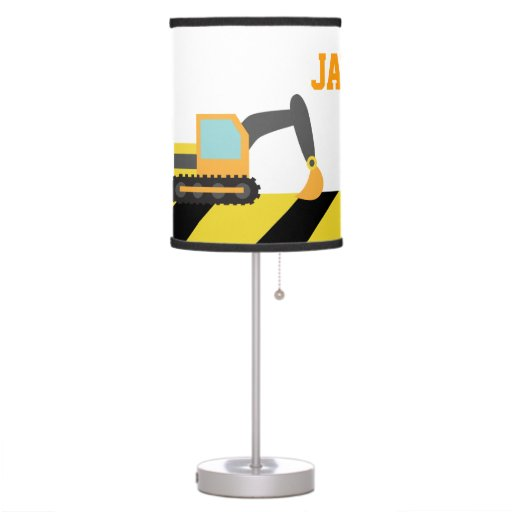 Construction Lamps For Boys : Colourful construction vehicles for boys room desk lamp