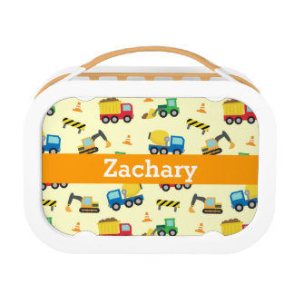 Colourful Construction Vehicles Pattern for Boys Yubo Lunch Box
