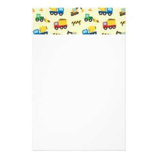 Colourful Construction Vehicles Pattern for Boys Stationery