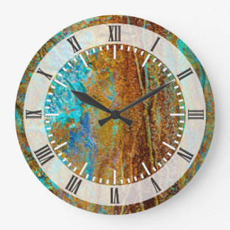 Colourful Corrosion Large Clock