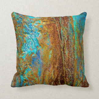 Colourful Corrosion Throw Pillow