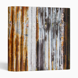 Colourful Corrugated Iron Fence 3 Ring Binder