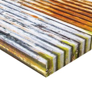 Colourful Corrugated Iron Fence Canvas Print