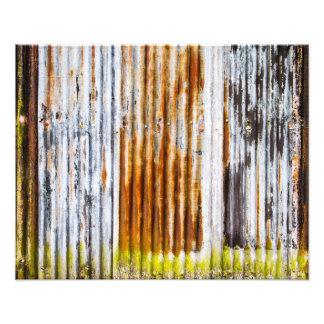 Colourful Corrugated Iron Fence Photo