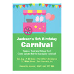Colourful Cotton Candy Carnival Birthday Party Invitation