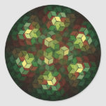 Colourful Cubes Round Stickers