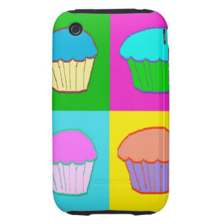 Colourful Cupcake Popart Case iPhone 3 Tough Cover