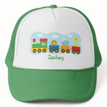 Colourful Cute Animal Train Transport Trucker Hat