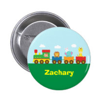 Colourful Cute Animals Train for Kids Button