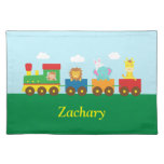 Colourful Cute Animals Train for Kids Cloth Placemat