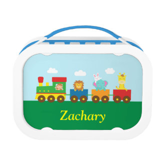 Colourful Cute Animals Train for Kids Lunch Box