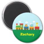 Colourful Cute Animals Train for Kids 2 Inch Round Magnet