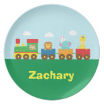 Colourful Cute Animals Train for Kids Party Plates