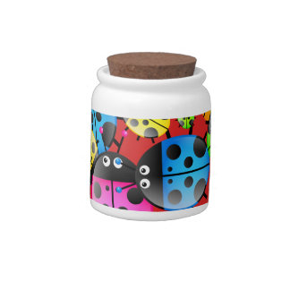 Colourful Cute Cartoon Ladybug Wallpaper Candy Jars