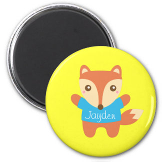 Colourful cute little fox, for Kids 2 Inch Round Magnet