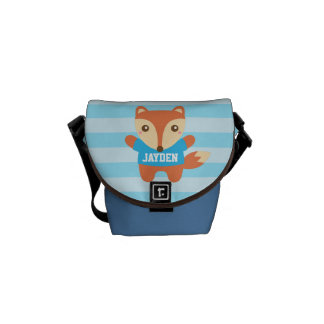 Colourful, Cute little fox, For Kids Courier Bags