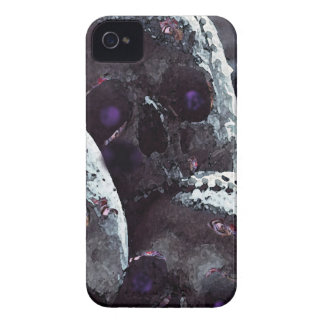 Colourful, cute, pink rose detail skull. iPhone 4 covers