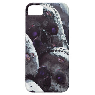 Colourful, cute, pink rose detail skull. iPhone SE/5/5s case