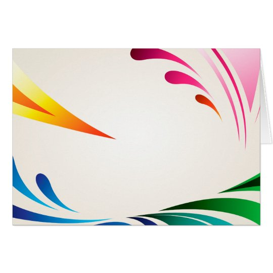 COLOURFUL DIGITAL SWIRLS splashes swooshes Card