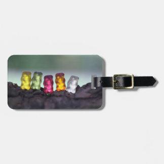 Colourful Diversity Gummy Bears Photography Bag Tag