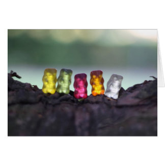 Colourful Diversity Gummy Bears Photography Card