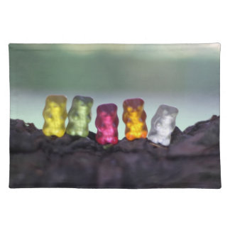 Colourful Diversity Gummy Bears Photography Cloth Placemat
