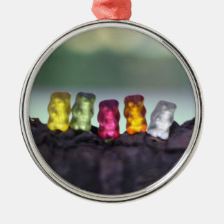 Colourful Diversity Gummy Bears Photography Metal Ornament