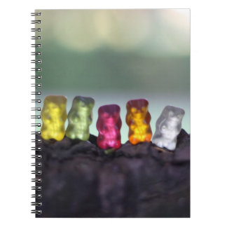 Colourful Diversity Gummy Bears Photography Spiral Notebooks
