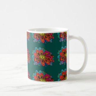 Colourful doodle mug