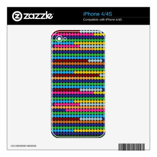Colourful dots iPhone 4S skins