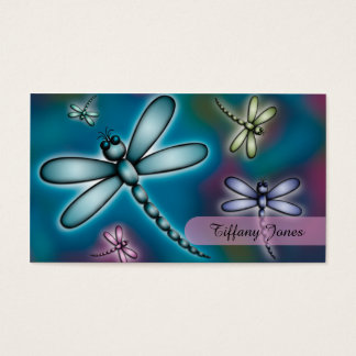 Colourful Dragonfly Mummy Contact Card