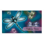 Colourful Dragonfly Mummy Contact Card Double-Sided Standard Business Cards (Pack Of 100)