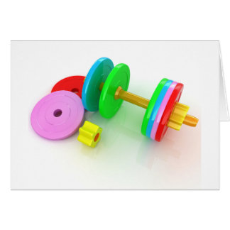 Colourful Dumbbells Note Cards
