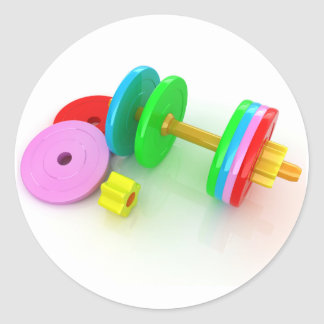 Colourful Dumbbells Stickers