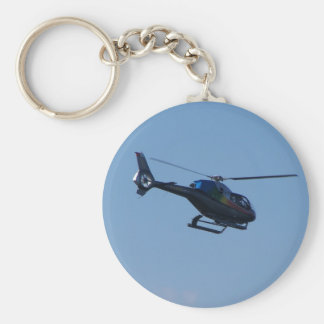 Colourful E120 helicopter Basic Round Button Keychain