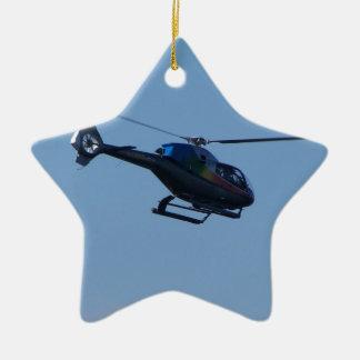 Colourful E120 helicopter Ceramic Ornament
