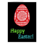 Colourful Easter Eggs Greeting Card 1