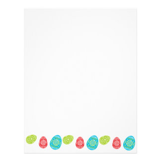 Colourful Easter Eggs Recycled Letterhead Paper 4
