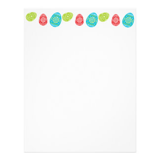 Colourful Easter Eggs Recycled Letterhead Paper 5