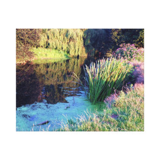 Colourful English countryside landscape Canvas Print