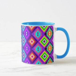 colourful ethnic style mug