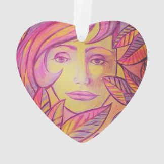 colourful #face has ornament