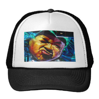 Colourful face trucker hat
