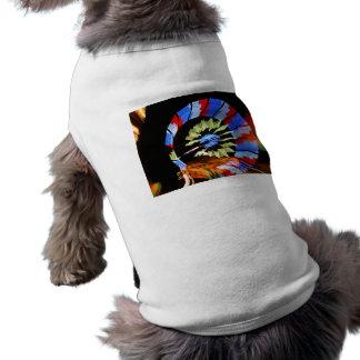 Colourful fair ride neon light photograph doggie tshirt