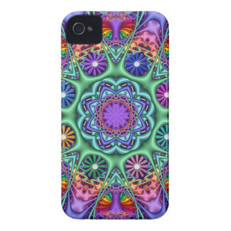 Colourful Fantasy Floral Kaleidoscope iPhone 4 Cover