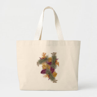 colourful feathers tote bags