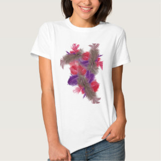 colourful feathers copy2 t shirt