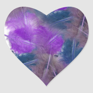 colourful feathers copy3 heart sticker