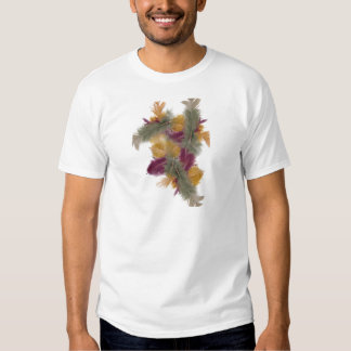 colourful feathers shirt